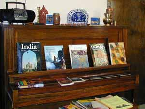 Indian books to browse, music to listen to